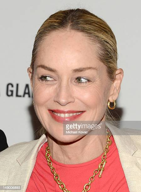 Actress Sharon Stone attends Together To End AIDS: An Evening To Benefit amfAR and GBCHealth at John F. Kennedy Center for the Performing Arts on...