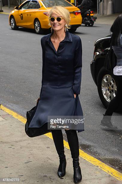 Actress Sharon Stone enters the Tao Lounge on May 13 2015 in New York City
