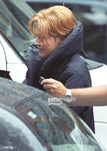 Actress Sharon Stone films a scene on the set of 'Beautiful Joe' taken in August 1999 in Vancouver BC Stone suffered an apparent brain aneurysm...