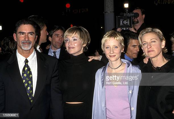 Actress Sharon Stone, husband Phil Bronstein, actress Anne Heche and comedienne/actress Ellen DeGeneres attend the Screening of HBO's Original Movie...