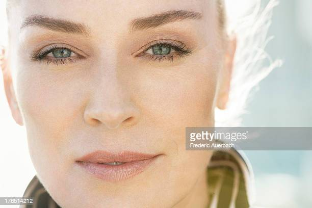 Actress Sharon Stone is photographed for Dior on October 1 2011 in Malibu California