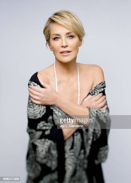 Actress Sharon Stone is photographed for Los Angeles Times on November 3 2015 in Los Angeles California PUBLISHED IMAGE CREDIT MUST READ Jay L...
