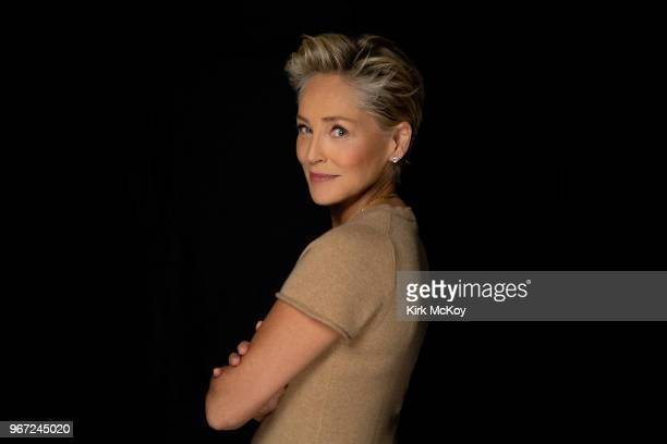 Actress Sharon Stone is photographed for Los Angeles Times on April 25, 2018 in Hollywood, California. PUBLISHED IMAGE. CREDIT MUST READ: Kirk...