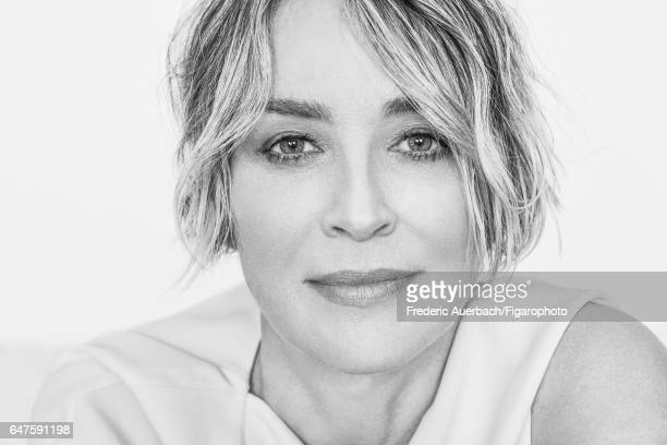 Actress Sharon Stone is photographed for Madame Figaro on January 12 2017 in Los Angeles California Blouse PUBLISHED IMAGE CREDIT MUST READ Frederic...