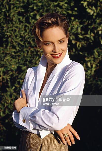 Actress Sharon Stone is photographed for Press Shoot on January 1 1994 in Los Angeles California
