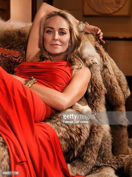 Actress Sharon Stone is photographed for Vanity Fair Italy in Cannes France