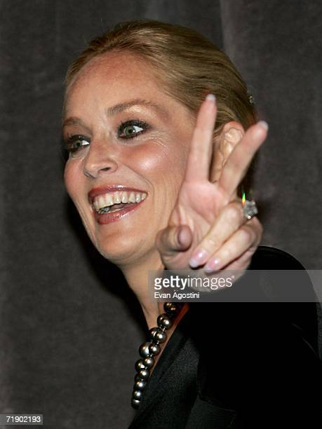 """Actress Sharon Stone onstage at the Toronto International Film Festival gala presenation of the film """"Bobby"""" held at the Roy Thomson Hall on..."""
