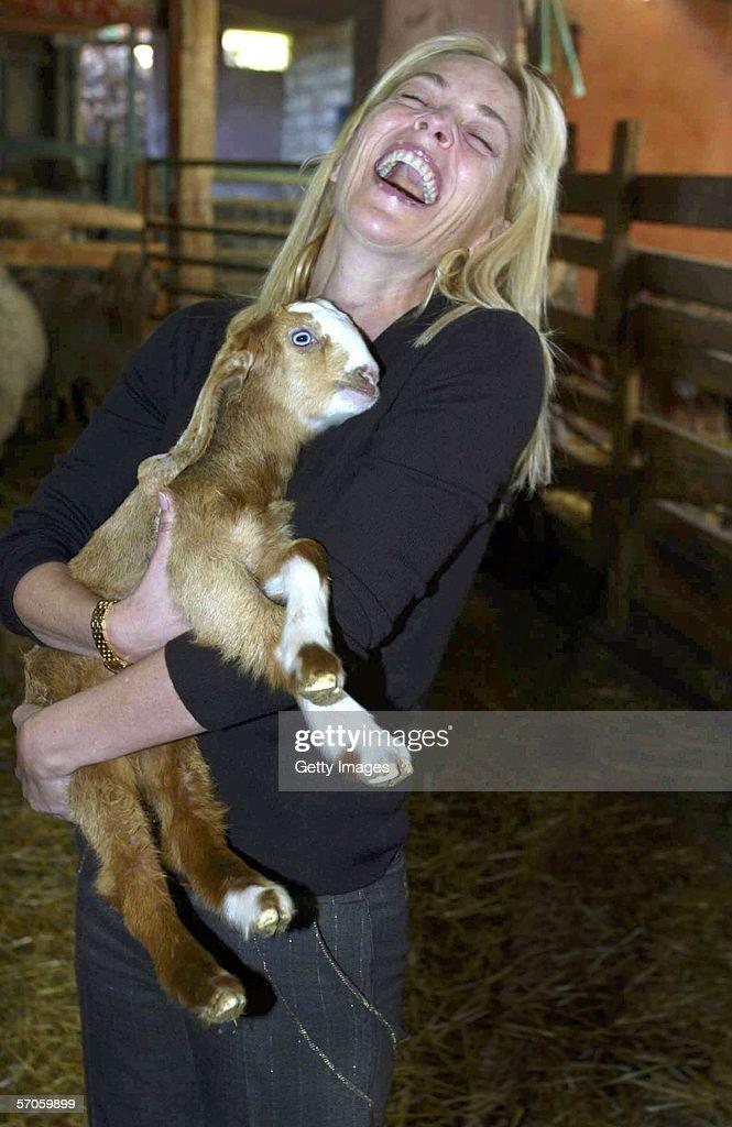 Sharon Stone Visits Israel : News Photo