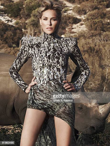 Actress Sharon Stone poses for a portrait session in Palmdale CA for Prestige Hong Kong Magazine COVER IMAGE