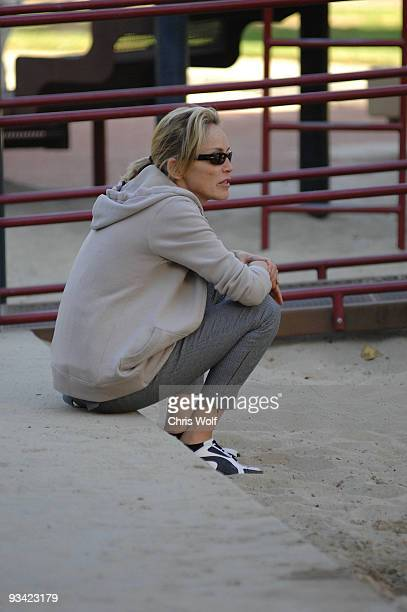 Actress Sharon Stone sighting on November 25 2009 in Beverly Hills California