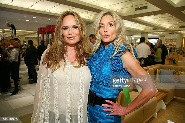 Actress Shauna Brittenham and Actress Heather Thomas poses at her Launch Party for Heather Thomas' Debut Novel Trophies at Barney's in Beverly Hills...