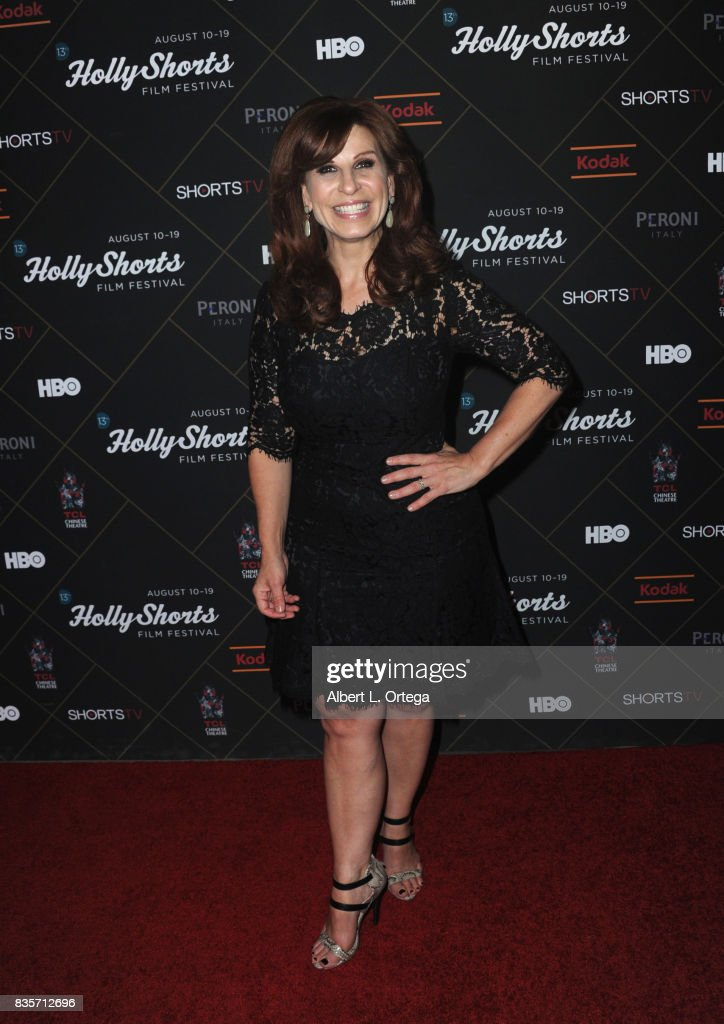 Actress Shawn Pelofsky arrives for the HollyShorts Film Festival closing night film 'This Is Meg' held at TCL Chinese 6 Theatres on August 19, 2017 in Hollywood, California.
