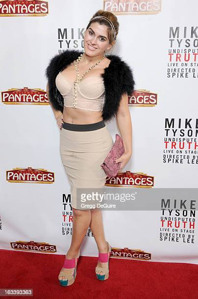 Actress Shawna Craig arrives at the Los Angeles opening night of Mike Tyson Undisputed Truth at the Pantages Theatre on March 8 2013 in Hollywood...