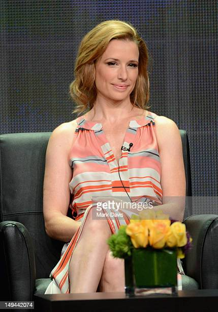 """Actress Shawnee Smith speaks onstage at the """"Anger Management"""" panel during the FX portion of the 2012 Summer TCA Tour on July 28, 2012 in Beverly..."""
