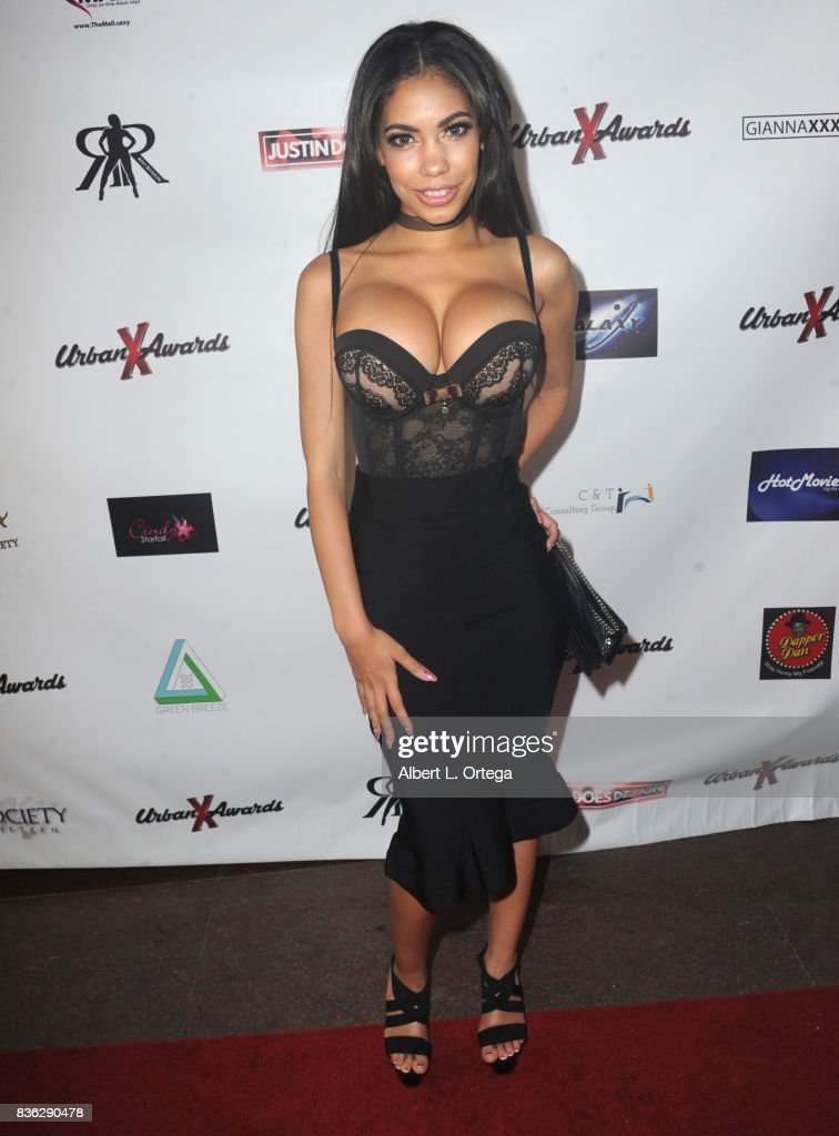 Actress Shay Evans arrives for the 6th Urban X Awards held at Stars On Brand on August 20, 2017 in Glendale, California.