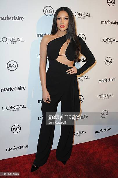 Actress Shay Mitchell arrives at Marie Claire's Image Maker Awards 2017 at Catch LA on January 10 2017 in West Hollywood California