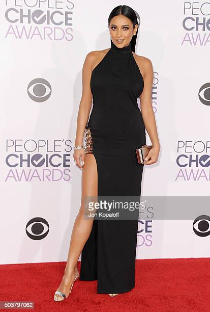 Actress Shay Mitchell arrives at People's Choice Awards 2016 at Microsoft Theater on January 6 2016 in Los Angeles California