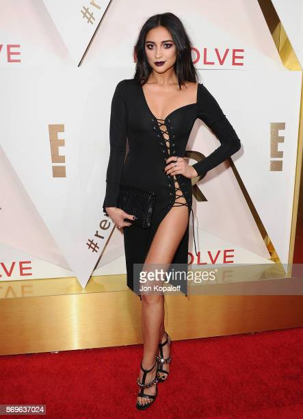 Actress Shay Mitchell arrives at #REVOLVEawards at DREAM Hollywood on November 2 2017 in Hollywood California