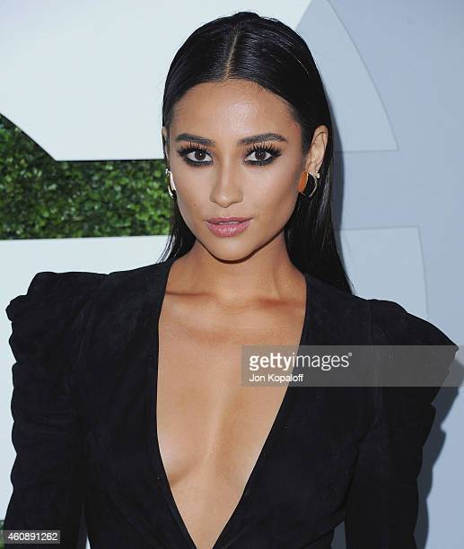 Actress Shay Mitchell arrives at the 2014 GQ Men Of The Year Party at Chateau Marmont on December 4 2014 in Los Angeles California