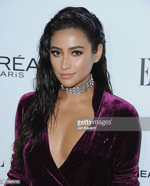 Actress Shay Mitchell arrives at the 23rd Annual ELLE Women In Hollywood Awards at Four Seasons Hotel Los Angeles at Beverly Hills on October 24,...