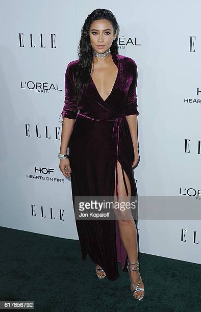 Actress Shay Mitchell arrives at the 23rd Annual ELLE Women In Hollywood Awards at Four Seasons Hotel Los Angeles at Beverly Hills on October 24 2016...
