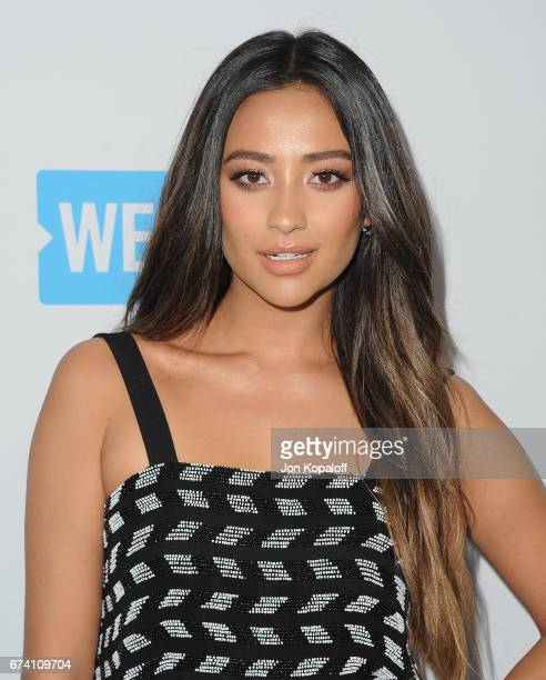 Actress Shay Mitchell arrives at We Day California 2017 at The Forum on April 27 2017 in Inglewood California