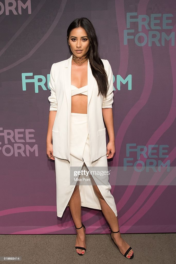 Actress Shay Mitchell attends the 2016 Freeform Upfront at Spring Studios on April 7, 2016 in New York City.