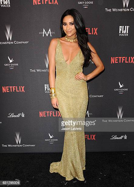 Actress Shay Mitchell attends the 2017 Weinstein Company and Netflix Golden Globes after party on January 8 2017 in Los Angeles California