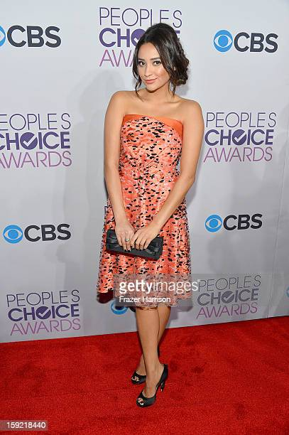 f9065e60c4 Actress Shay Mitchell attends the 39th Annual People s Choice Awards at  Nokia Theatre LA Live on