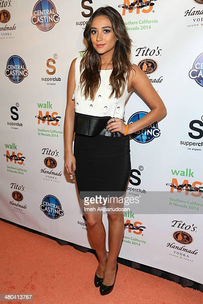 Actress Shay Mitchell attends the LA Celebrity MS Walk Kick Off Event at SupperClub Los Angeles on March 24 2014 in Los Angeles California