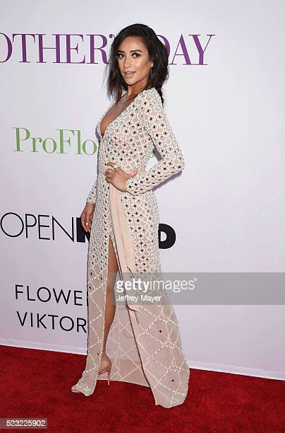 Actress Shay Mitchell attends the Open Roads World Premiere of 'Mother's Day' at the TCL Chinese Theatre IMAX on April 13 2016 in Hollywood...