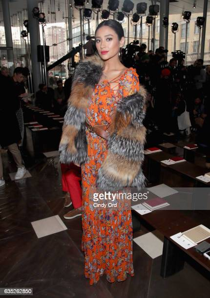 Actress Shay Mitchell attends the Tory Burch FW17 Show during New York Fashion Week at the Whitney Museum of American Art on February 14 2017 in New...