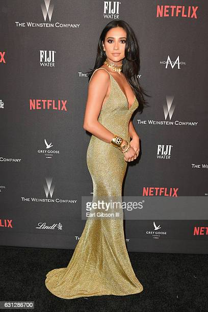 Actress Shay Mitchell attends The Weinstein Company and Netflix Golden Globe Party presented with FIJI Water Grey Goose Vodka Lindt Chocolate and...