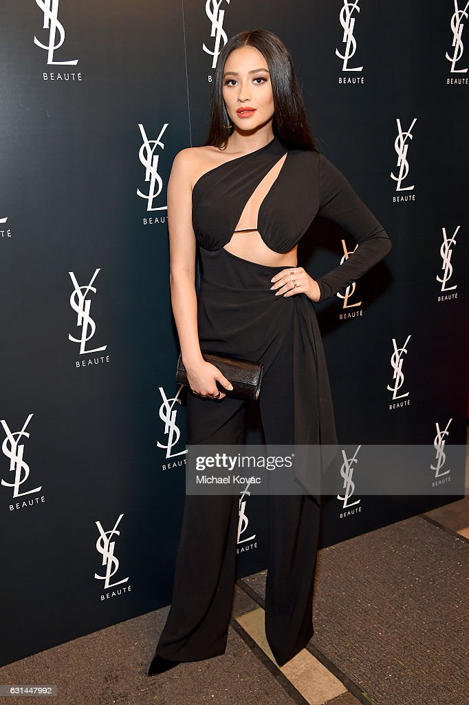 Actress Shay Mitchell attends the YSL Beauty Club Party at the Ace Hotel on January 10, 2017 in Downtown Los Angeles, California.