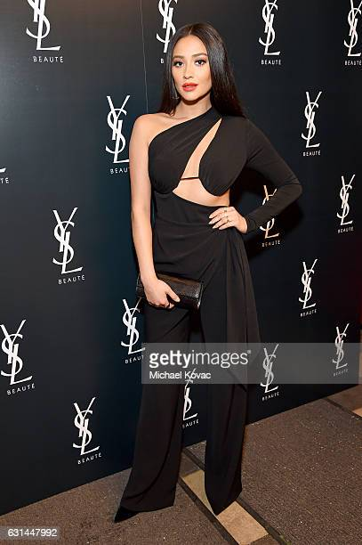 Actress Shay Mitchell attends the YSL Beauty Club Party at the Ace Hotel on January 10 2017 in Downtown Los Angeles California