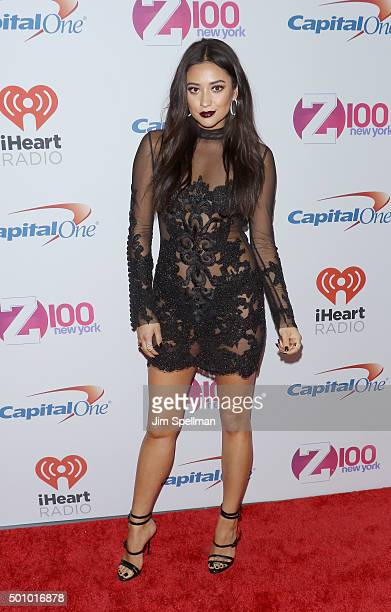 Actress Shay Mitchell attends the Z100's iHeartRadio Jingle Ball 2015 at Madison Square Garden on December 11 2015 in New York City