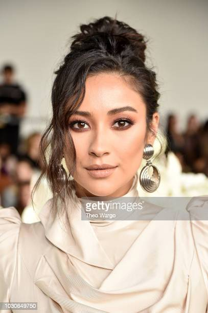Actress Shay Mitchell attends the Zimmermann front row during New York Fashion Week The Shows at Gallery I at Spring Studios on September 10 2018 in...