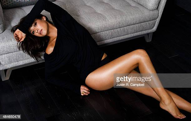 Actress Shay Mitchell is photographed for Just Jared on February 1 2015 in Los Angeles California