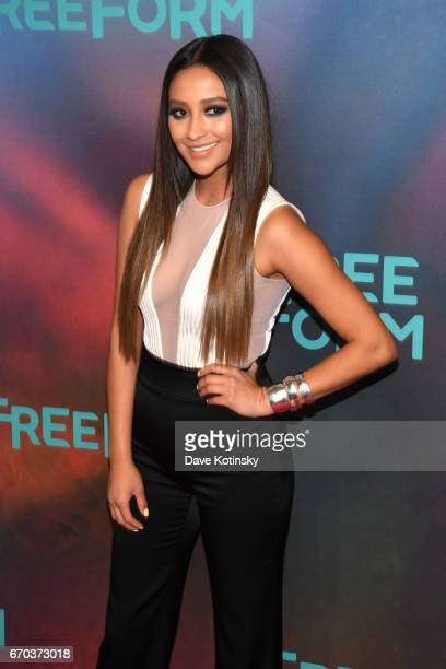 Actress Shay Mitchell of Pretty Little Liars attends Freeform 2017 Upfront at Hudson Mercantile on April 19 2017 in New York City