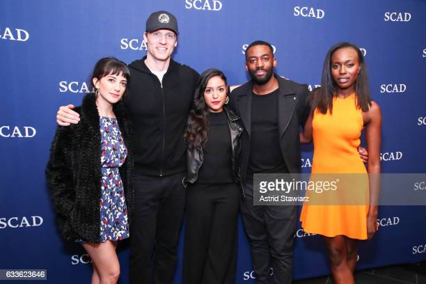 "Actress Sheila Vand actor Teddy Sears actress Coral Peña actor Ashley Thomas and actress Anna Diop attends Cast Award Photo Opp Backstage for ""24..."