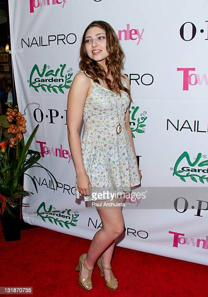 Actress Shelby Young arrives at the Nail Garden Brentwood opening party 2nd annual Beauty For A Cause spring toy drive at Nail Garden Brentwood on...