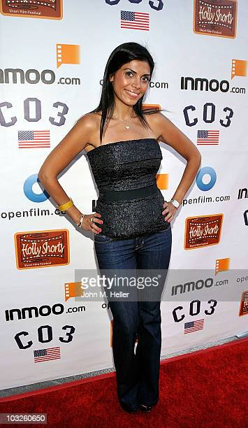 Actress Shelia Shah attends the opening night of the 6th Annual HollyShorts Film Festival at the Directors Guild of America on August 5 2010 in West...