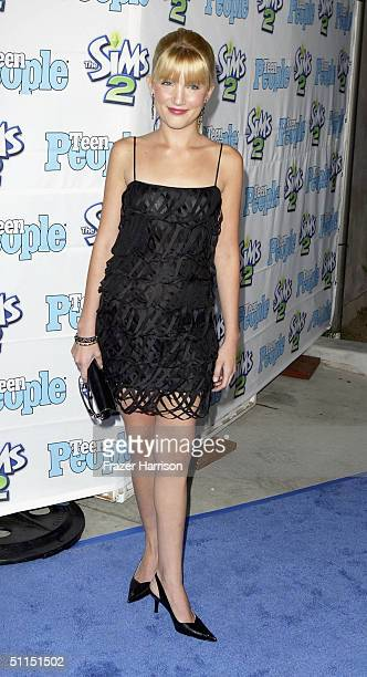 Actress Shelley Buckner arrives at the 1st Annual Teen People 'Young Hollywood' Issue party held on August 7 2004 at the Teen People mansion in the...