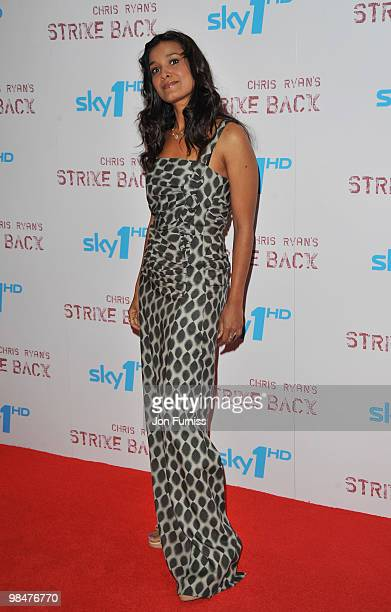 Actress Shelley Conn attends the special premiere of Sky One's 'Strike Back' at the Vue West End on April 15 2010 in London England