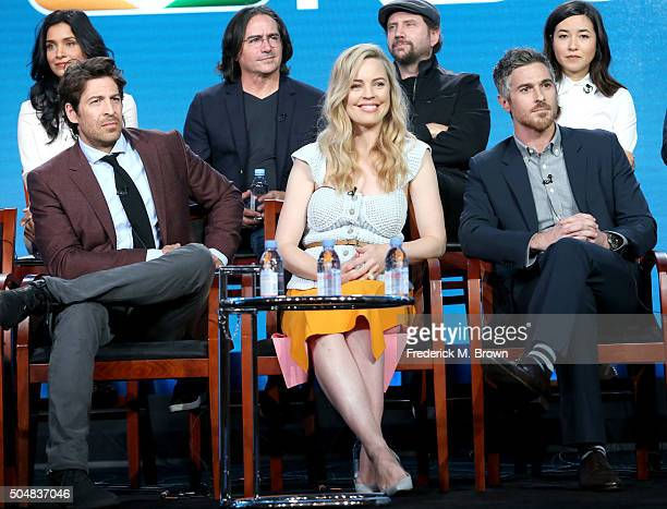 Actress Shelley Conn executive producer Brad Silberling actors Jamie Kennedy and Maya Erskine Actors Don Hany Melissa George and Dave Annable speak...