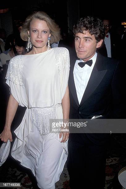 Actress Shelley Hack an d husband Harry Winer attend the 37th Annual Directors Guild of America Awards on March 9 1985 at the Beverly Hilton Hotel in...
