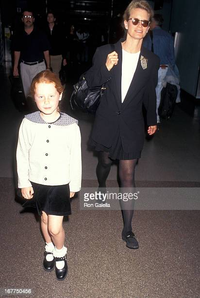 Actress Shelley Hack and daughter Devon Winer arrive from New York City on April 27 1997 at the Los Angeles International Airport in Los Angeles...