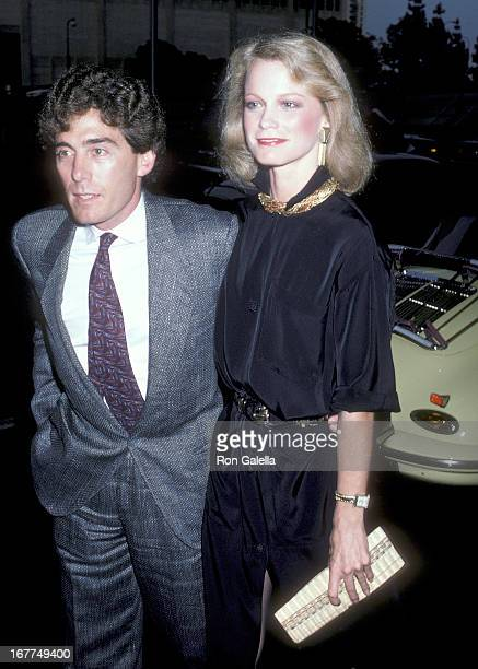 Actress Shelley Hack and husband Harry Winer attend the ABC Television Affiliates Party on June 5 1986 at the Century Plaza Hotel in Century City...