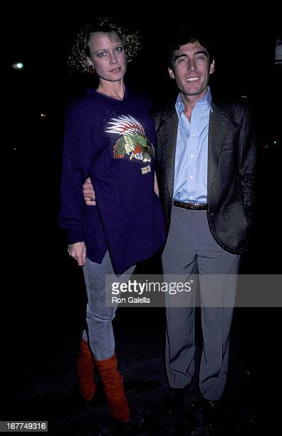 Actress Shelley Hack and husband Harry Winer attend The Falcon and the Snowman West Hollywood Premiere on January 16 1985 at the DGA Theatre in West...