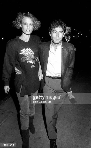 Actress Shelley Hack and husband Harry Winer attend the screening of The Falcon and the Snowman on January 16 1985 at the Director's Guild Theater in...